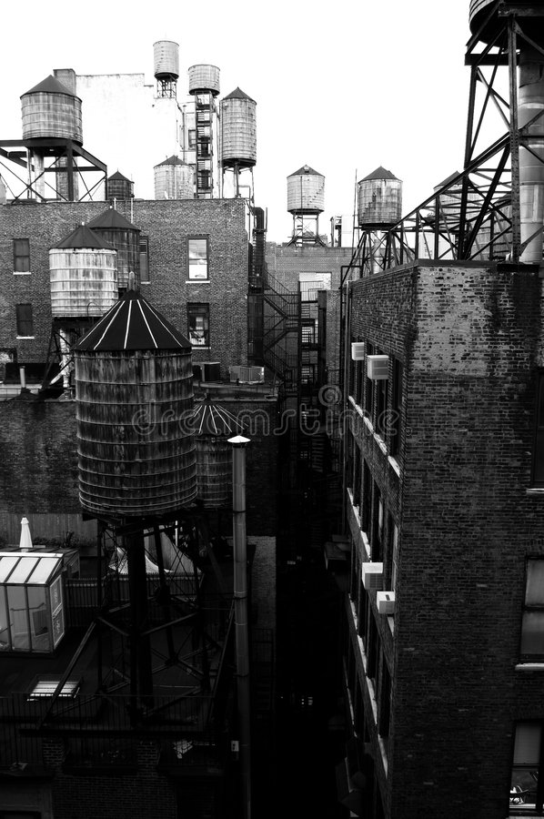 Watertowers image libre de droits