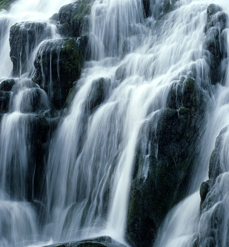 Waterval. stock afbeelding