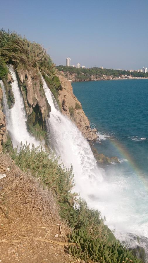 Waterval in Antalya stock afbeelding