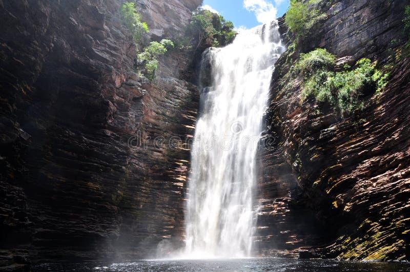 Waterval in Bahia Brazil stock afbeelding
