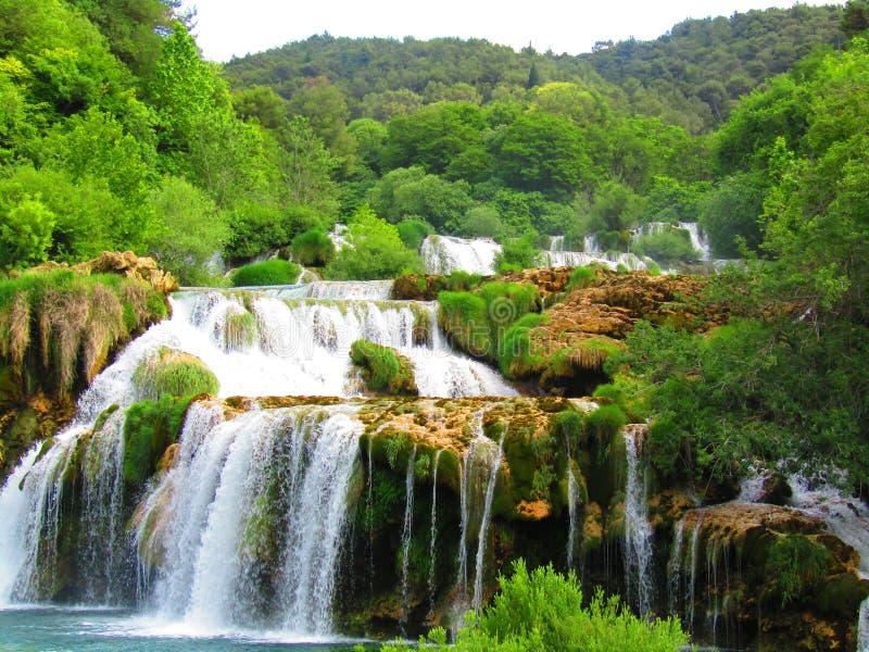 Waterval bij krka nationaal park royalty-vrije stock foto's