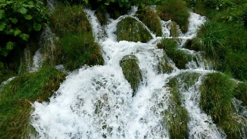 Waterval bij Plitvice-Meren Nationaal Park stock afbeelding