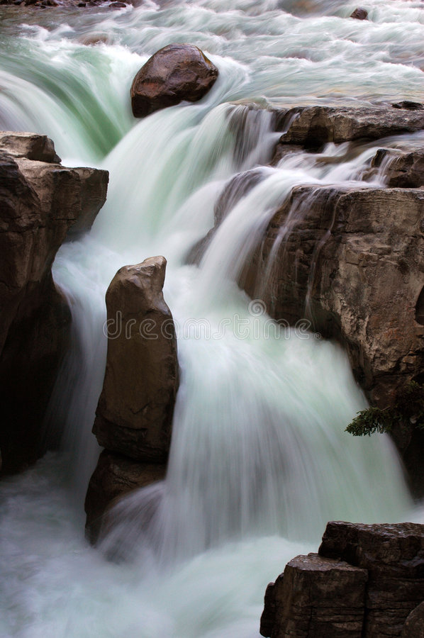 Waterval in Canada stock foto