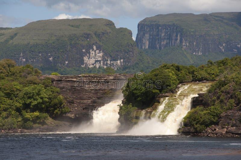 Waterval in Canaima, Venezuela royalty-vrije stock foto's