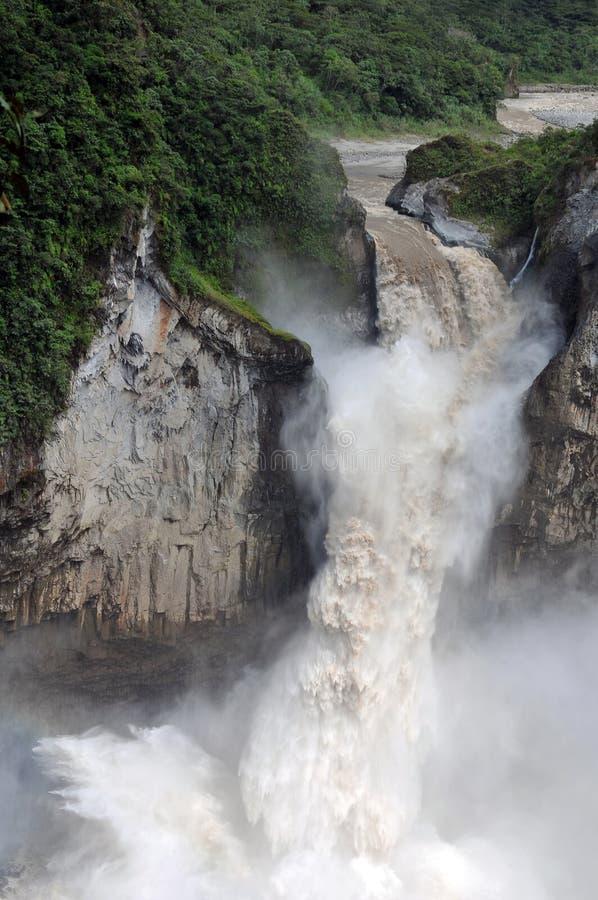 Waterval in de Andes stock foto