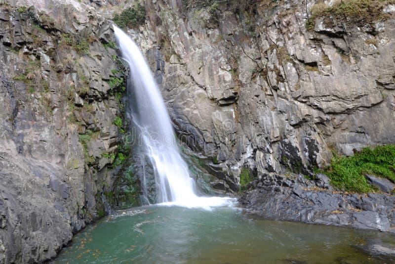 Waterval in de hoilday toevlucht van Wuxie van Zhejiang-Provincie China royalty-vrije stock fotografie