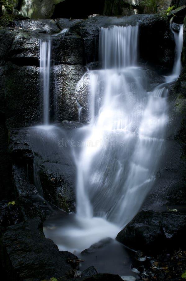 Waterval in de Lumsdale vallei, Engeland royalty-vrije stock foto