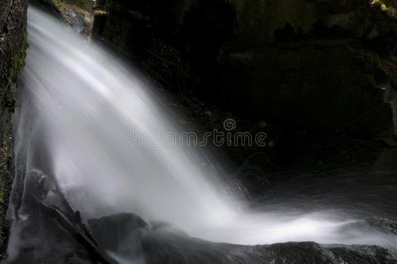 Waterval in de Lumsdale vallei, Engeland royalty-vrije stock fotografie