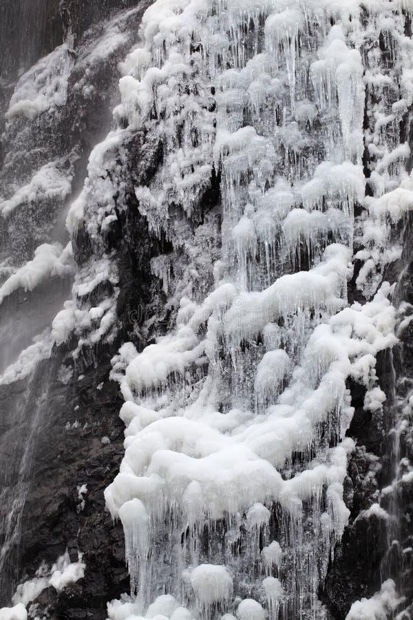 Waterval In De Winter Stock Afbeeldingen