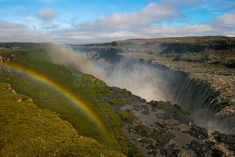 Waterval Dettifos, IJsland royalty-vrije stock foto's