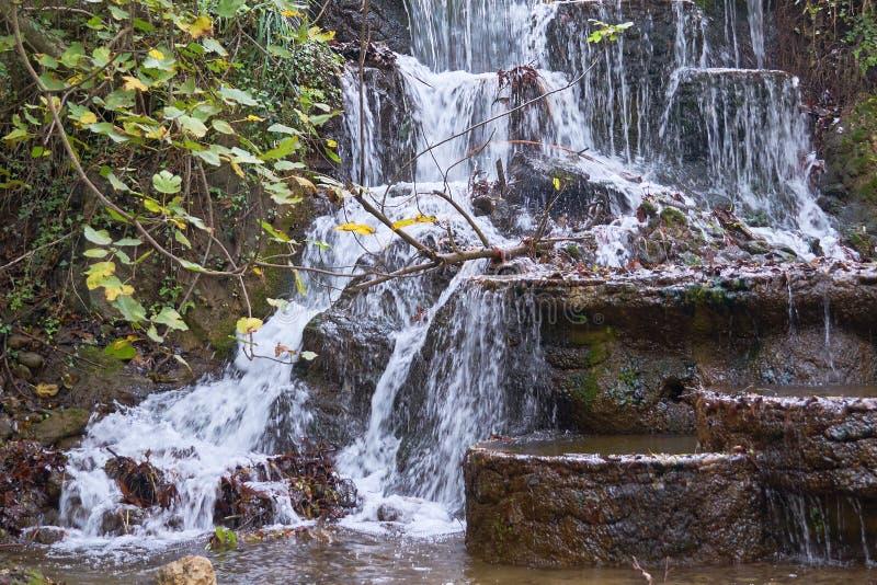 Waterval dichtbij Alanya, Turkije stock foto