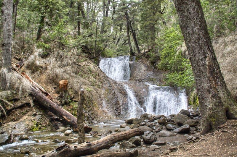 Waterval dichtbij Bariloche, Argentinië royalty-vrije stock fotografie