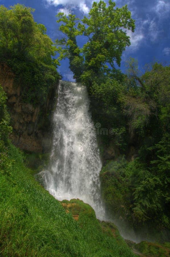 Waterval dichtbij Edessa, in Griekenland stock afbeelding
