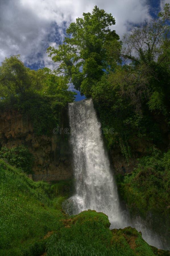 Waterval dichtbij Edessa, in Griekenland stock foto's