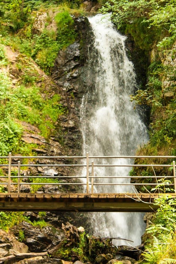 Waterval dichtbij Todtnau, Zwart Bos in Duitsland royalty-vrije stock foto's