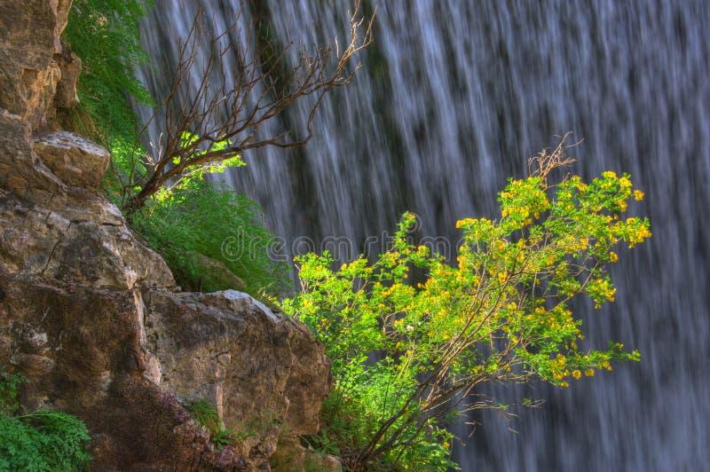 Waterval dichtbij Trikala, Griekenland - de lentebeeld, detail royalty-vrije stock afbeelding
