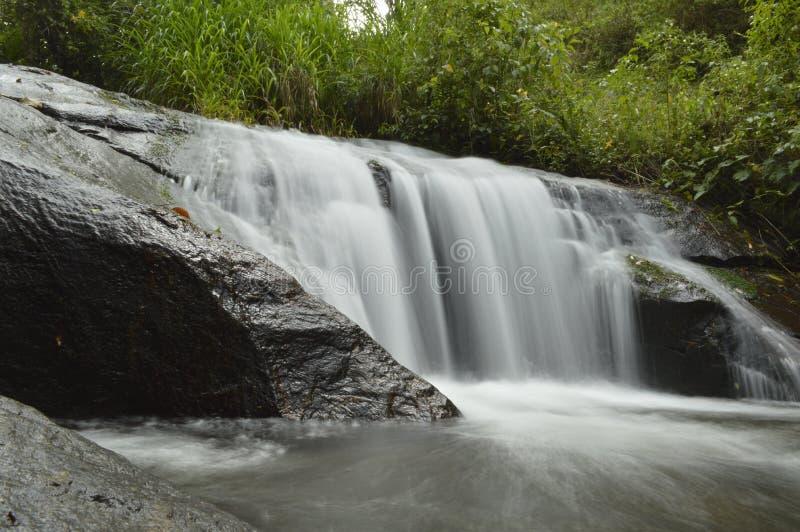Waterval in een groen landschap stock foto