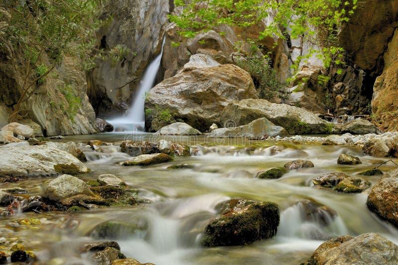 Waterval en stroom stock afbeeldingen