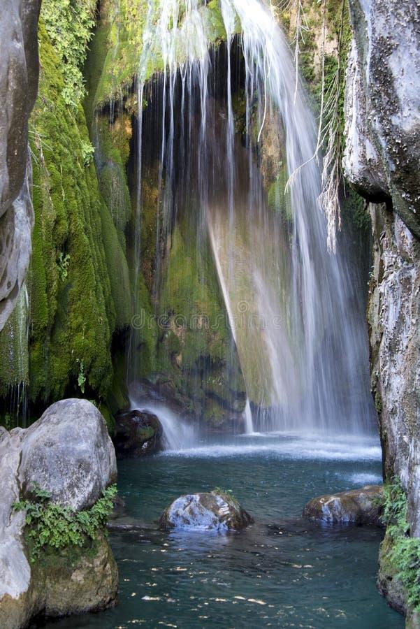 Waterval in Fuentes del Algar royalty-vrije stock afbeeldingen