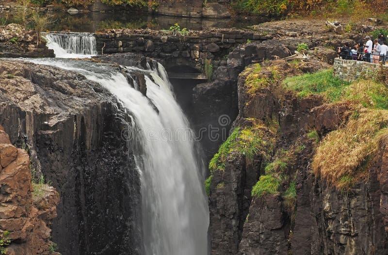 Waterval in Great Falls-Park in Paterson, NJ royalty-vrije stock foto