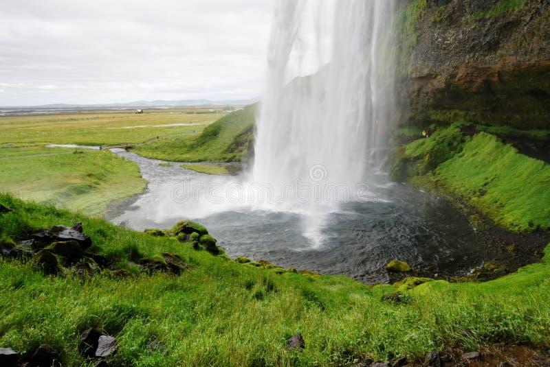 Waterval Gullfoss in IJsland stock foto's
