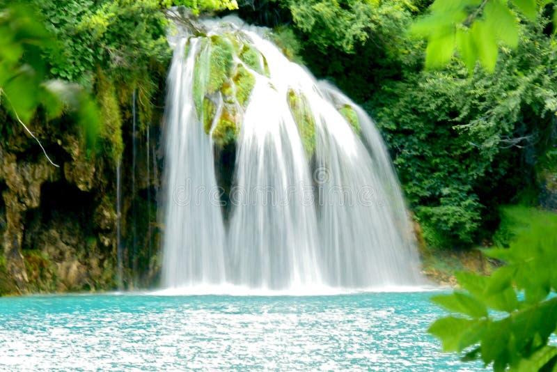 Waterval in het Nationale park stock fotografie