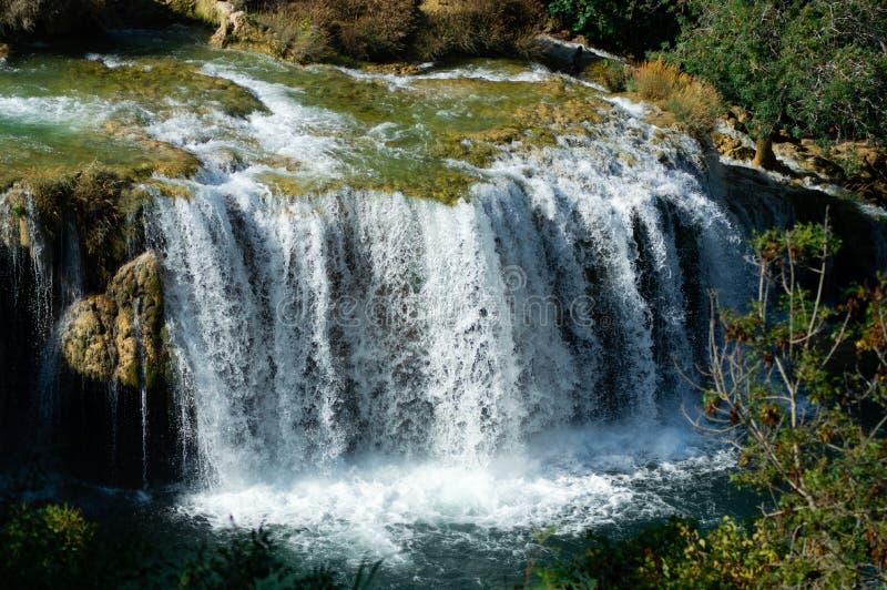 Waterval in het Nationale Park van Krka stock foto's
