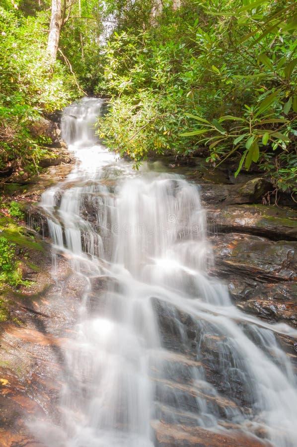 Waterval in het Noorden Georgia Mountains stock afbeelding