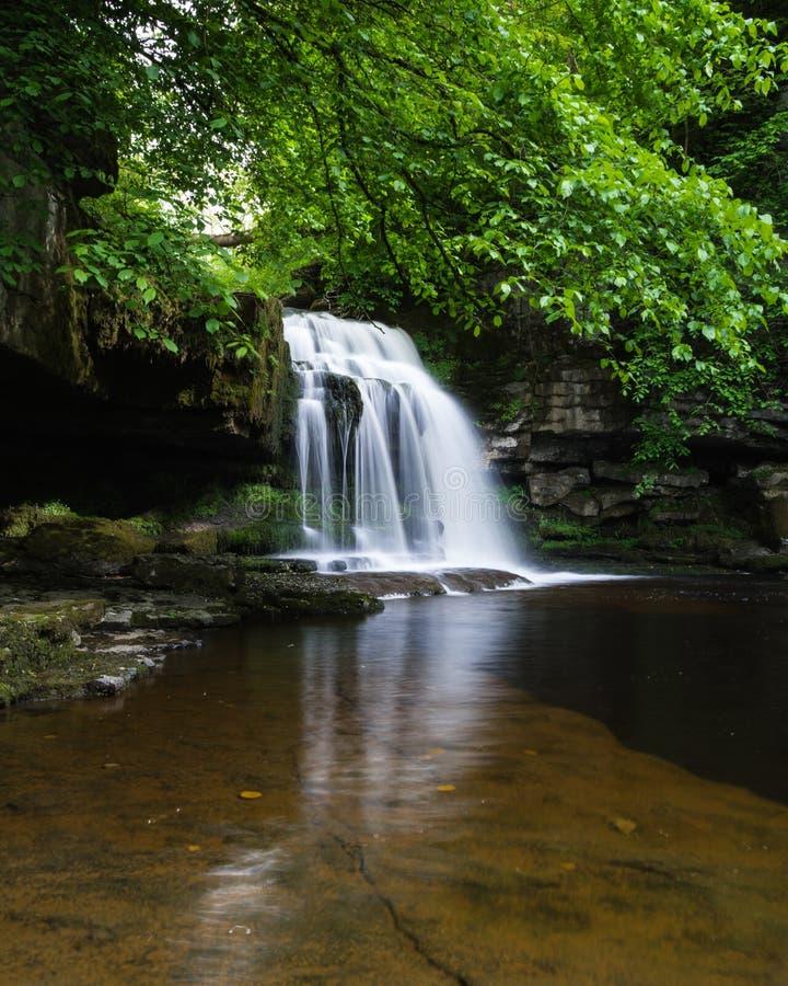 Waterval - het Westen Burton - Couldron-Dalingen royalty-vrije stock foto's