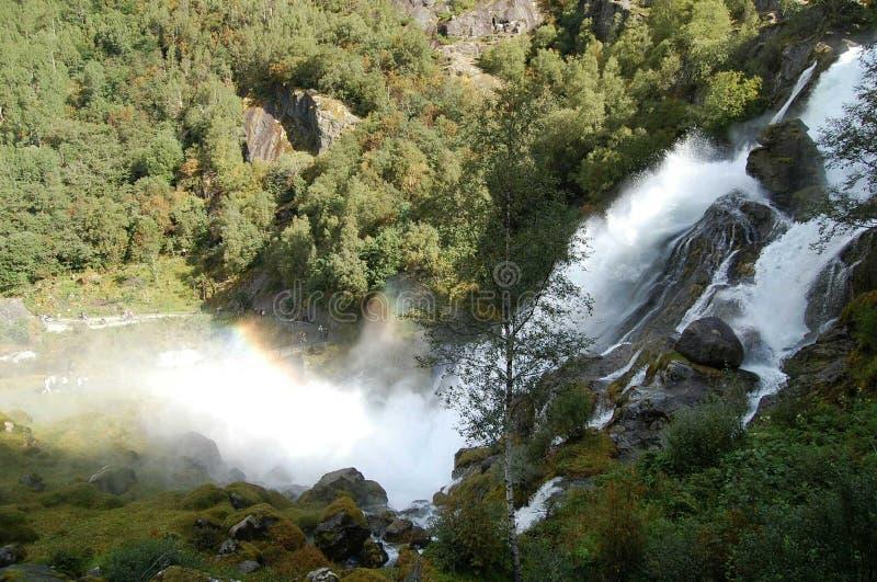 Waterval in huesca stock foto's