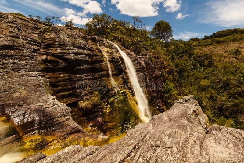 Waterval in Ibitipoca royalty-vrije stock afbeeldingen