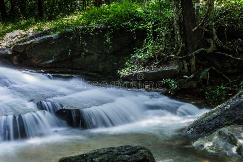 Waterval, Khum-Som Waterval, Muang-District, Sakon Nakhon, Thailand royalty-vrije stock fotografie