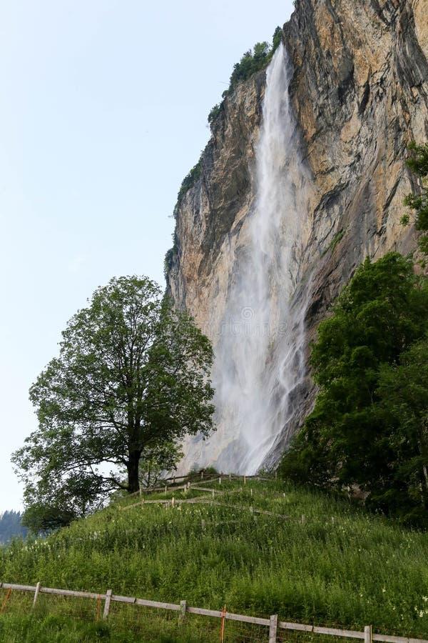Waterval in Lauterbrunnen stock foto