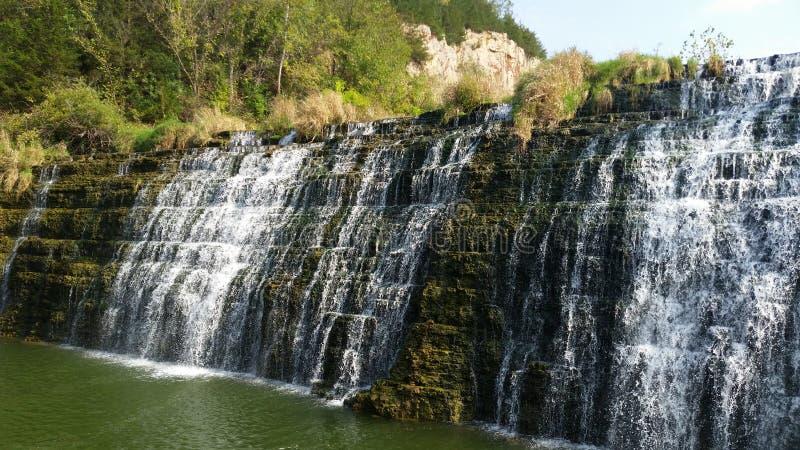 Waterval in Loodglans, Illinois royalty-vrije stock foto