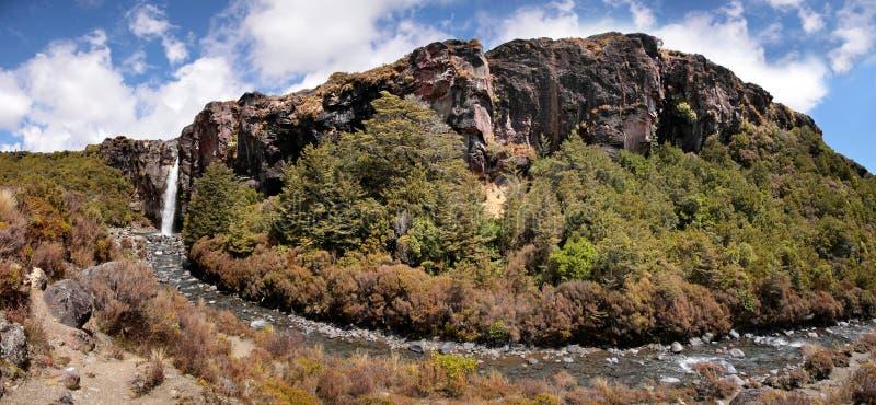 Waterval in Nationaal Park Tongariro royalty-vrije stock foto