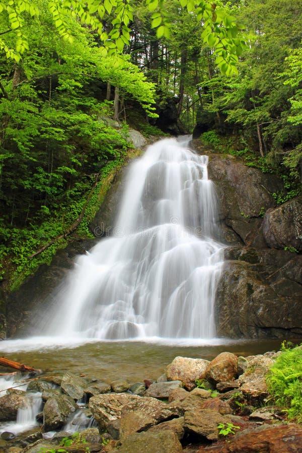 Waterval op een stroom in Vermont stock afbeeldingen