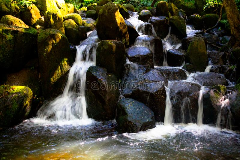 Waterval op Kauai stock foto