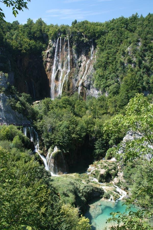 Waterval op Plitvice, Kroatië stock afbeeldingen