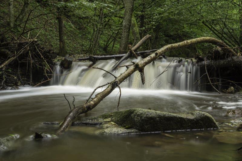 Waterval, rivier Pakra, Kroatië royalty-vrije stock foto's