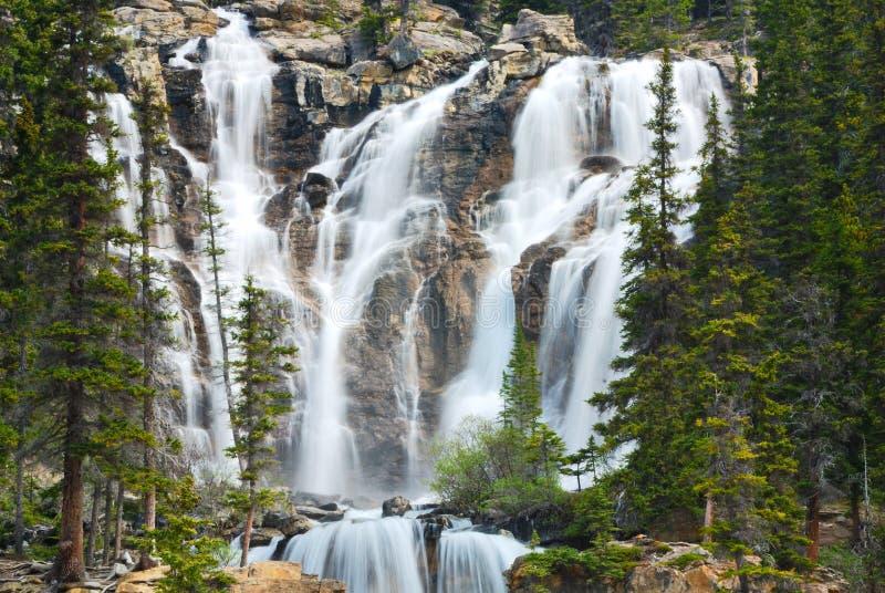 Waterval in Rockies royalty-vrije stock afbeeldingen