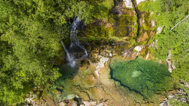 Waterval in Sloveni? stock afbeeldingen