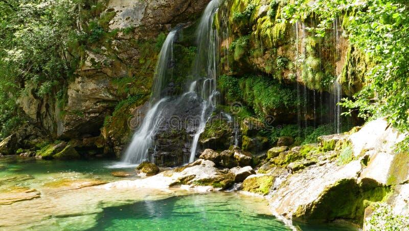 Waterval in Sloveni? stock foto