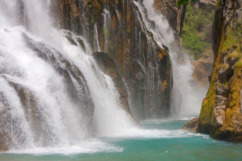 Waterval, Turkije stock afbeelding
