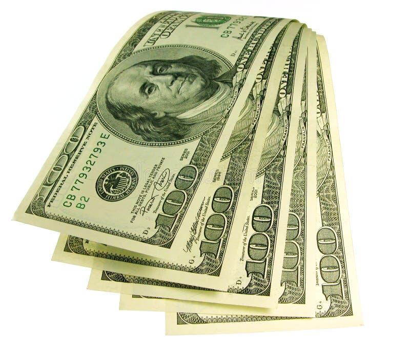 Waterval van geld stock foto's