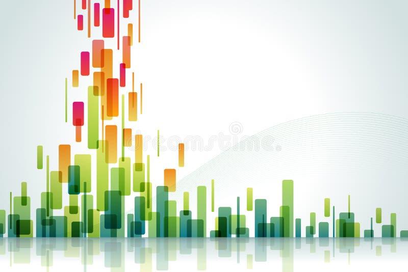 Waterval van kleur stock illustratie