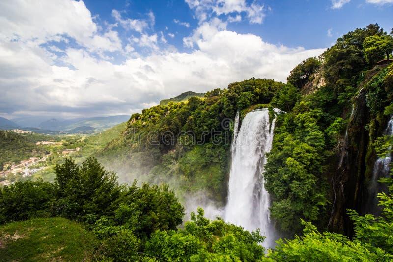 Waterval van Mamore Italië Terni Umbrië royalty-vrije stock foto's