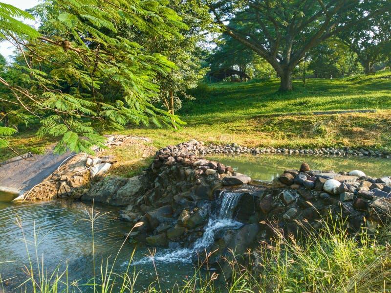 Waterval van oomchris landbouwbedrijf stock foto