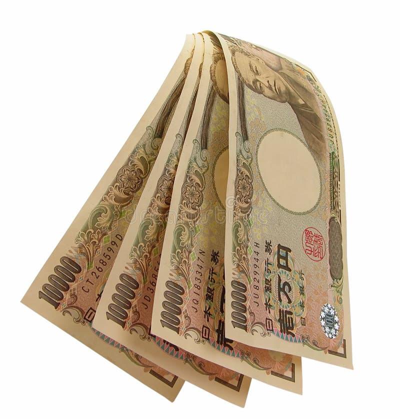 Waterval van yens royalty-vrije stock afbeeldingen