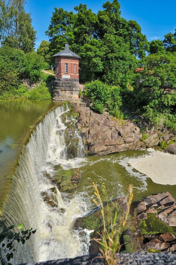 Waterval in Vanhankaupunginkoski, Helsinki royalty-vrije stock afbeeldingen