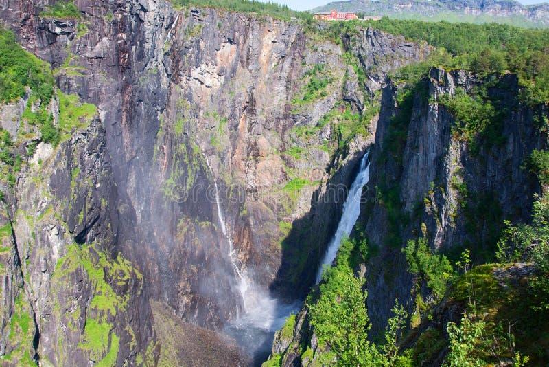 Waterval Voringfossen, Noorwegen stock afbeeldingen